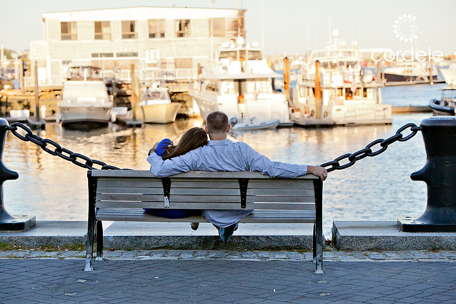Boston Water Front Engagement Photos