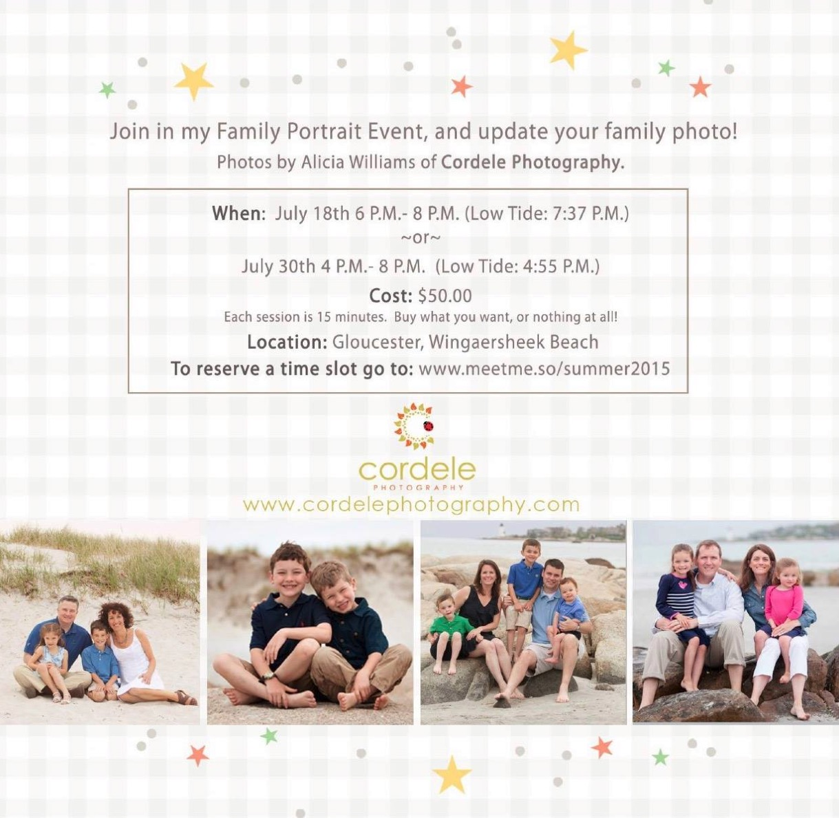 Summer Beach Family Photos